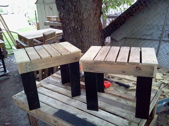 DIY Pallets Rustic Benches 10