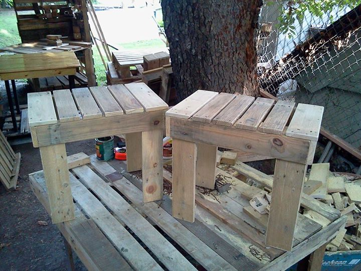 DIY Pallets Rustic Benches 8