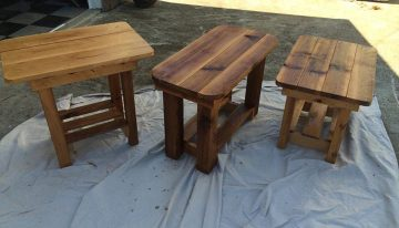Beautiful Handmade Pallets Side Tables