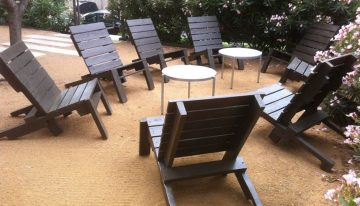 Stained Coffee Brown Pallets Chairs