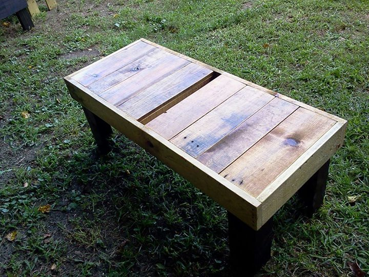Pallets Coffee Table Bench