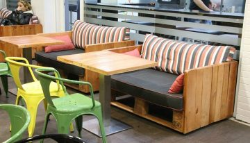 Pallets Furniture of Da Vinci Coffee and Food Point