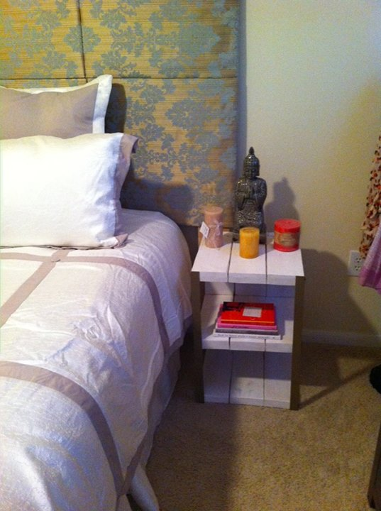 Pallets Made Bed Side Table
