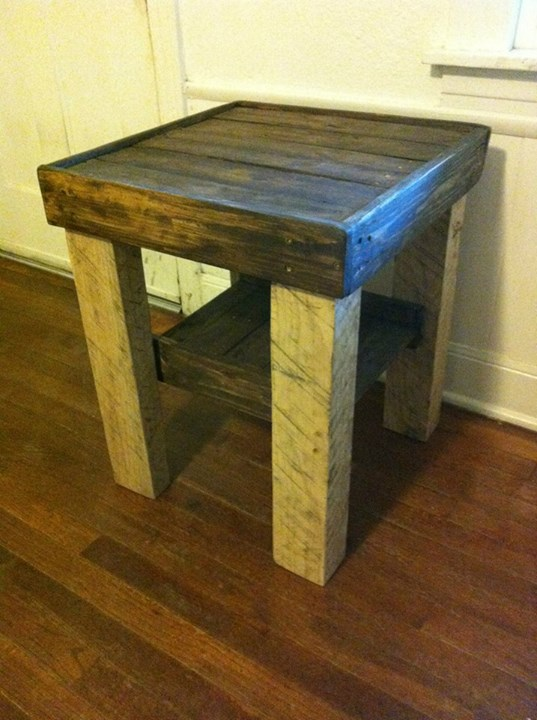 Pallets Made Bed Side Tables