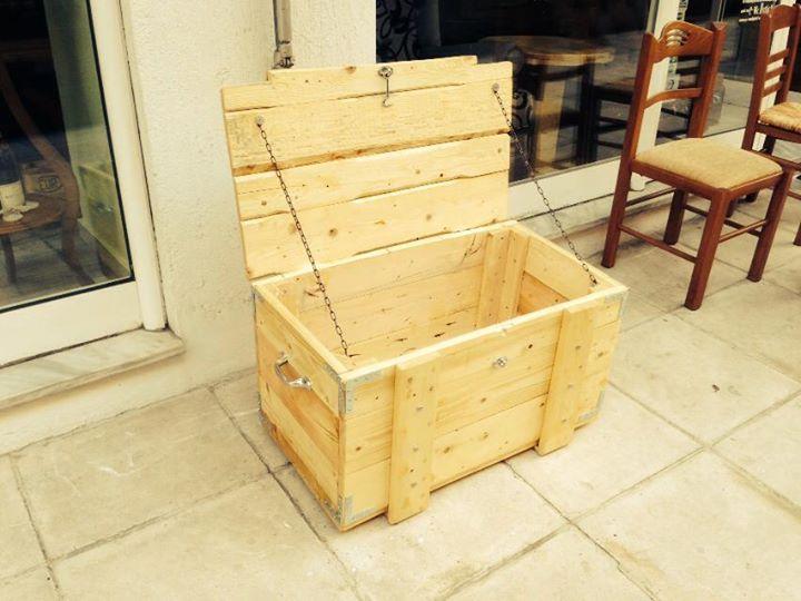 Pallets Made Storage Box Pallet Ideas