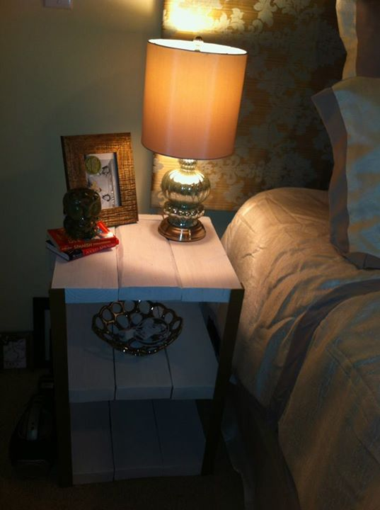 Pallets Wood Bed Side Tables