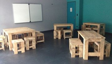 Pallets Made Classroom Furniture