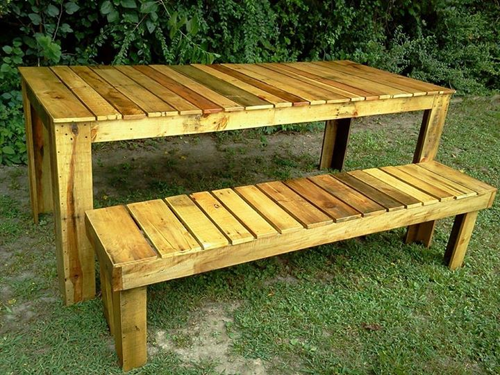 Rustic Pallets Tables And Benches Pallet Ideas