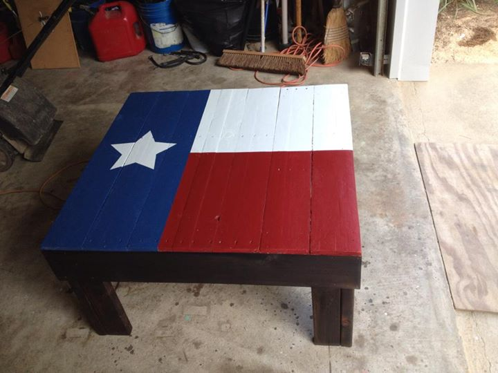 Texas State Flag Pallets Coffee Table Pallet Ideas