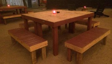Outdoor Party Pallets Tables / Benches / Chairs