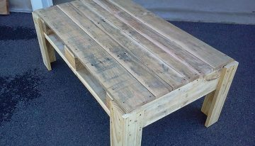 Cute Pallets Coffee Table with Drawers