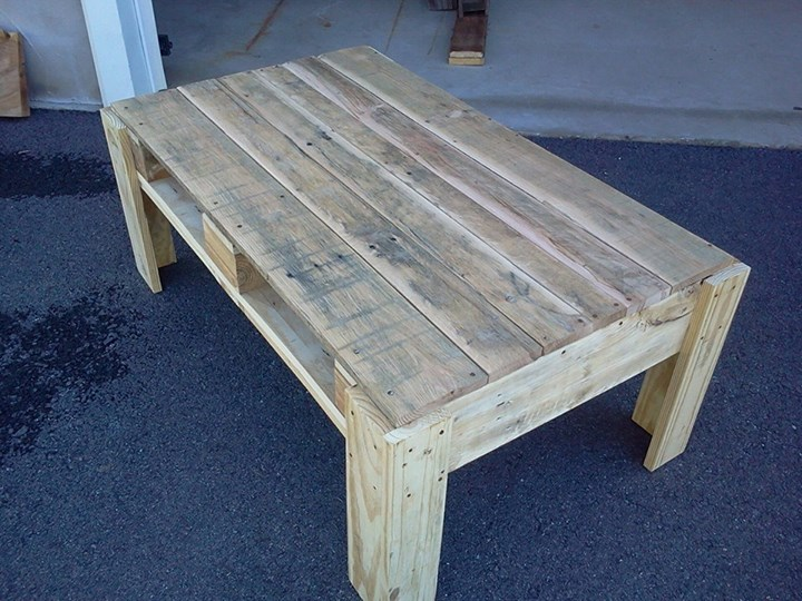 Cute pallets coffee table with drawers pallet ideas for Cute coffee tables
