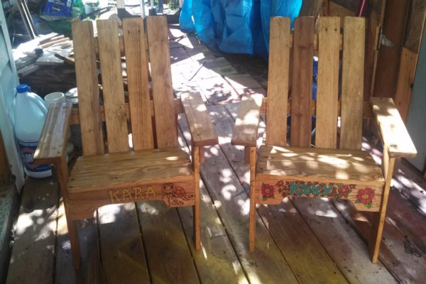 Pallets Made Kids Chairs
