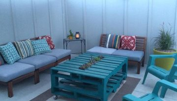Pallets Planter Table and Sofa