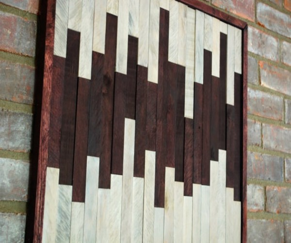 Elegant Wall Art With Wooden Pallets Pallet Ideas