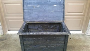 Storage Box Made From Pallet Wood