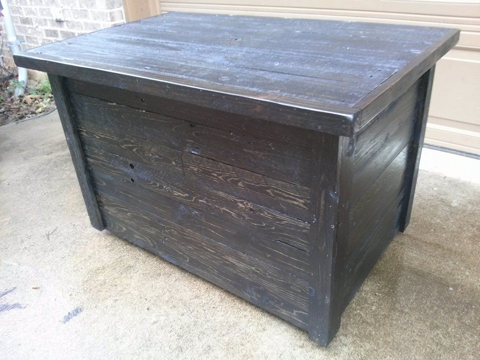 Storage box made from pallet wood pallet ideas recycled for Storage box made from pallets