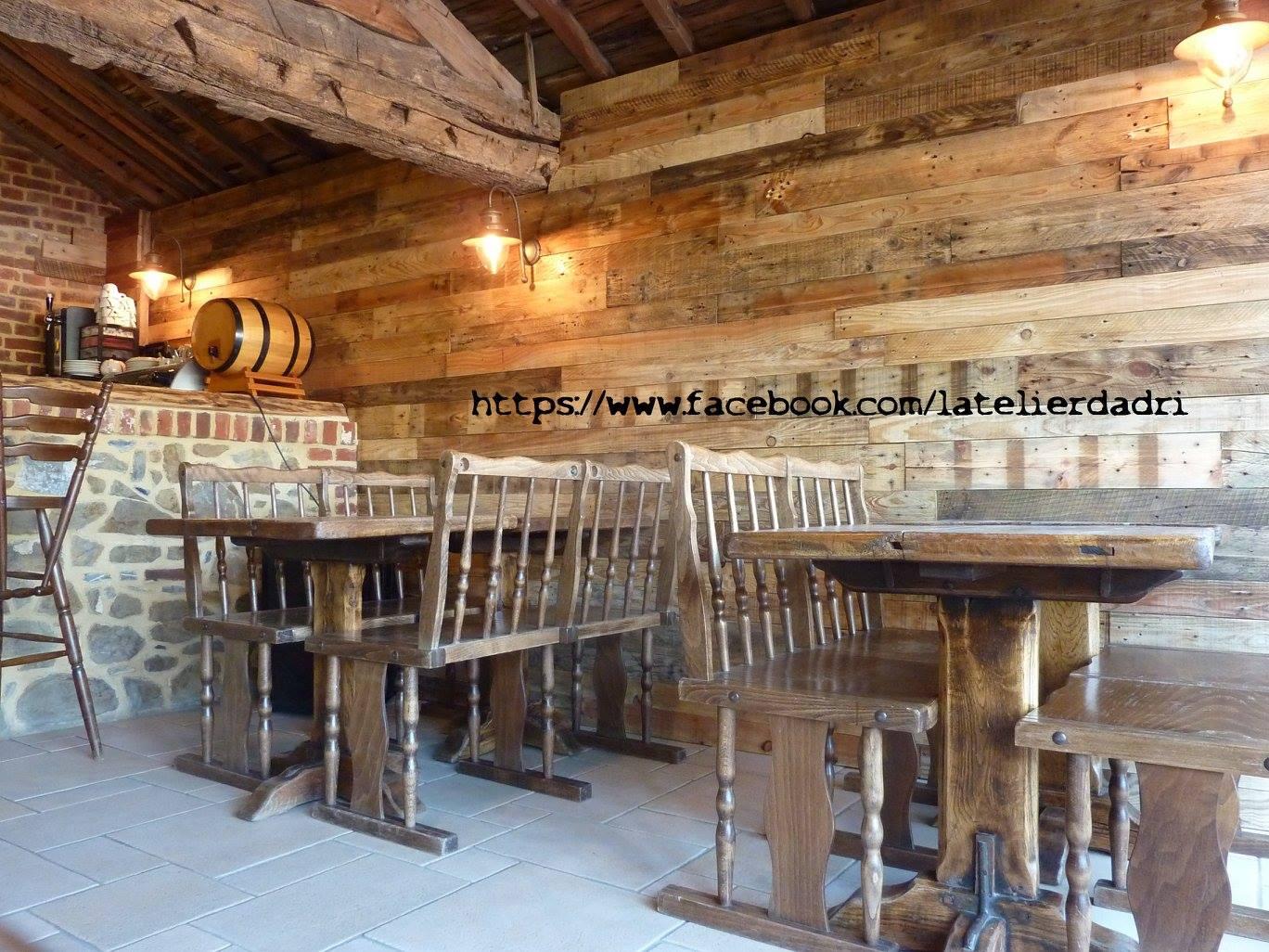 Bar décoration murale avec les palettes en bois pallet ideas