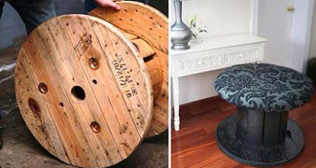 Cute Cable Drum Reel Recycling Ideas