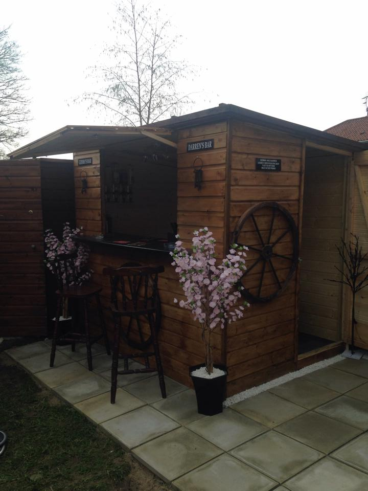 Diy Old Shed In To A Pallets Made Bar Pallet Ideas