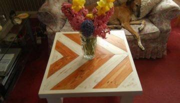 Herringbone Pallet Coffee Table