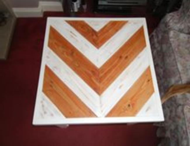 Herringbone Pallet Coffee Table Pallet Ideas