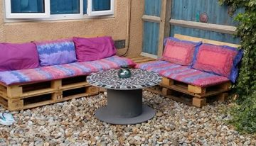 Pallets Made Patio Benches