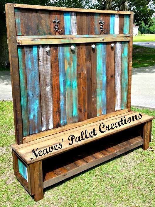 Wooden Pallets Made Customized Hall Tree Pallet Ideas