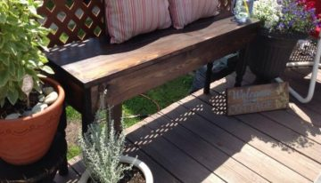 Pallets Wood Made Patio Custom Bench
