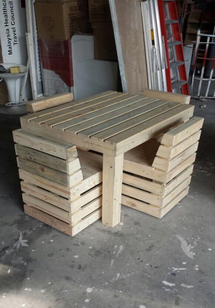 Pallets creations at showroom in malaysia pallet ideas for Pallet furniture projects
