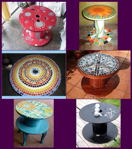 Cute Cable Drum / Reel Recycling Ideas