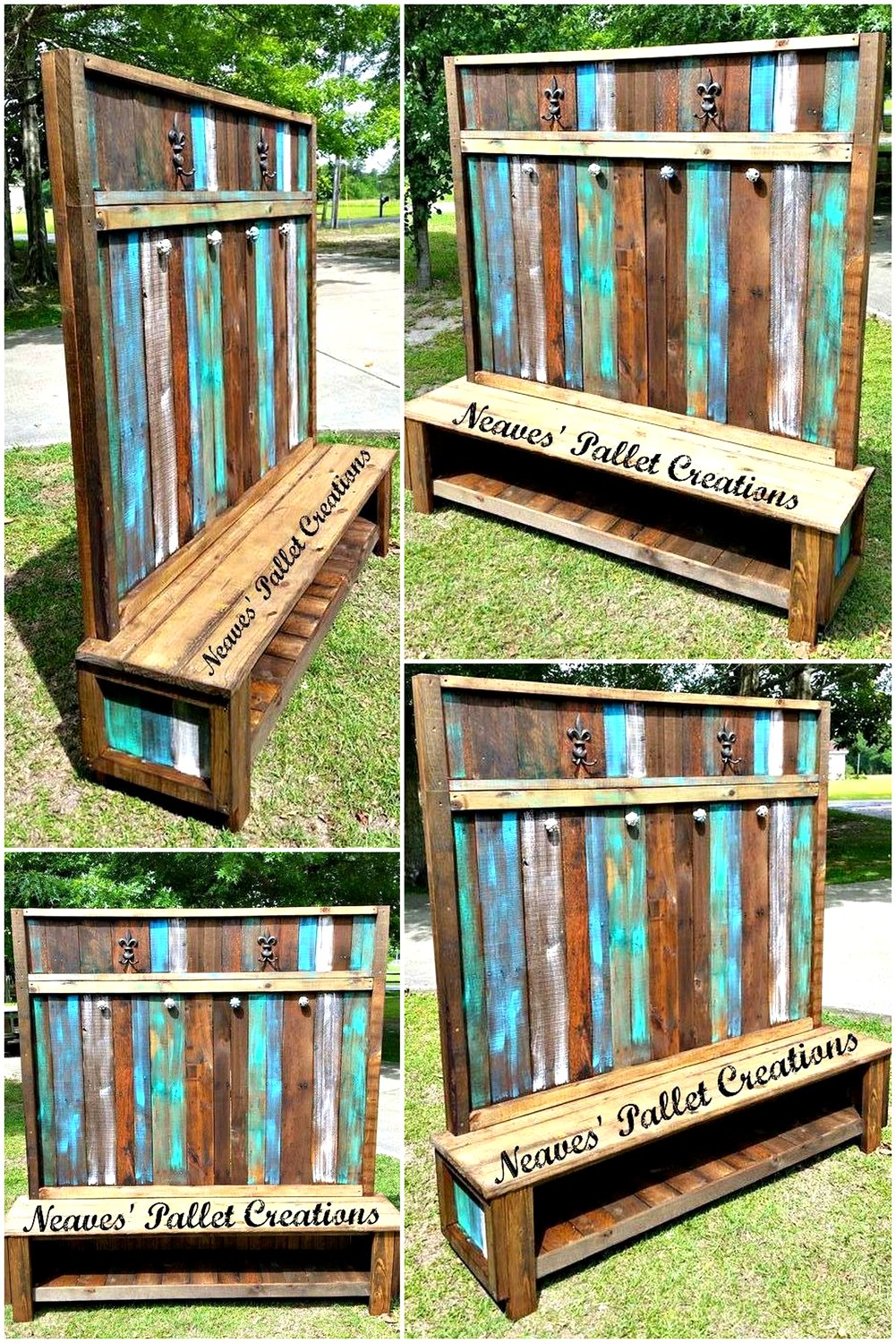 Wooden Pallets Made Customized Hall Tree | Pallet Ideas
