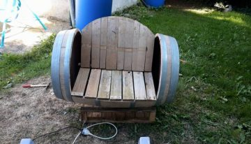DIY Wood Barrel Recycled Chair