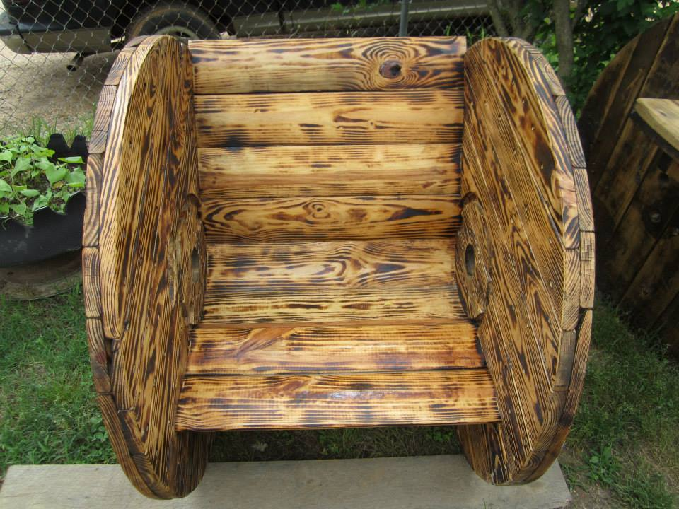 Cable Reel Pallets Seating Creations Pallet Ideas