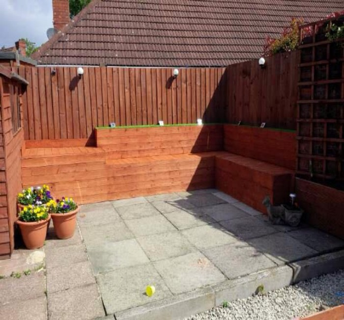 Diy garden corner sofa