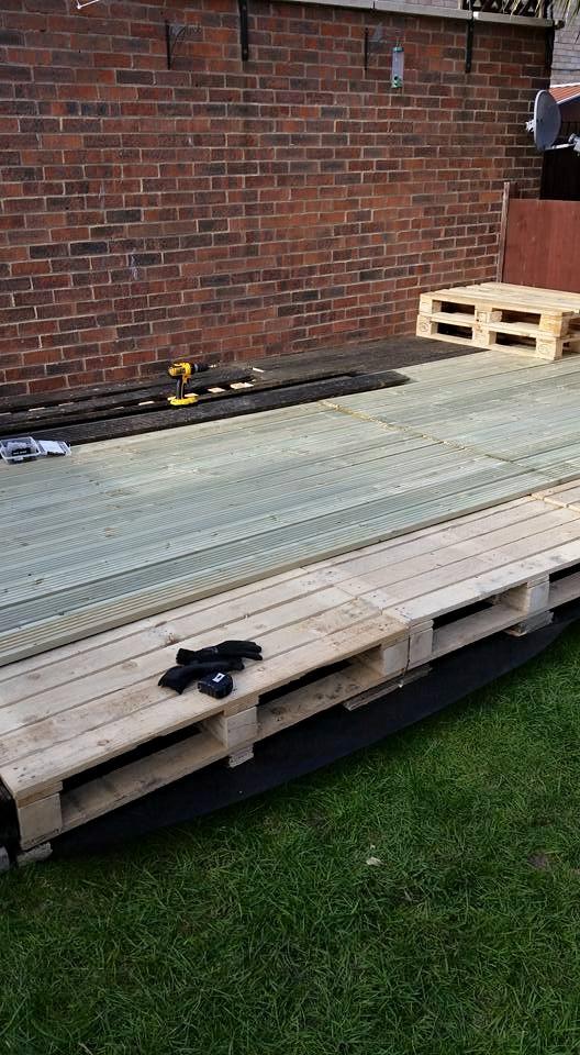 DIY Garden Deck / Furniture with Pallets Wood | Pallet Ideas