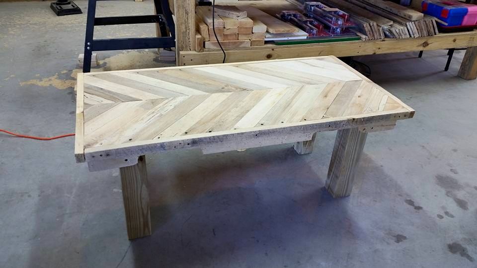 Diy Pallets Herringbone Bench Pallet Ideas