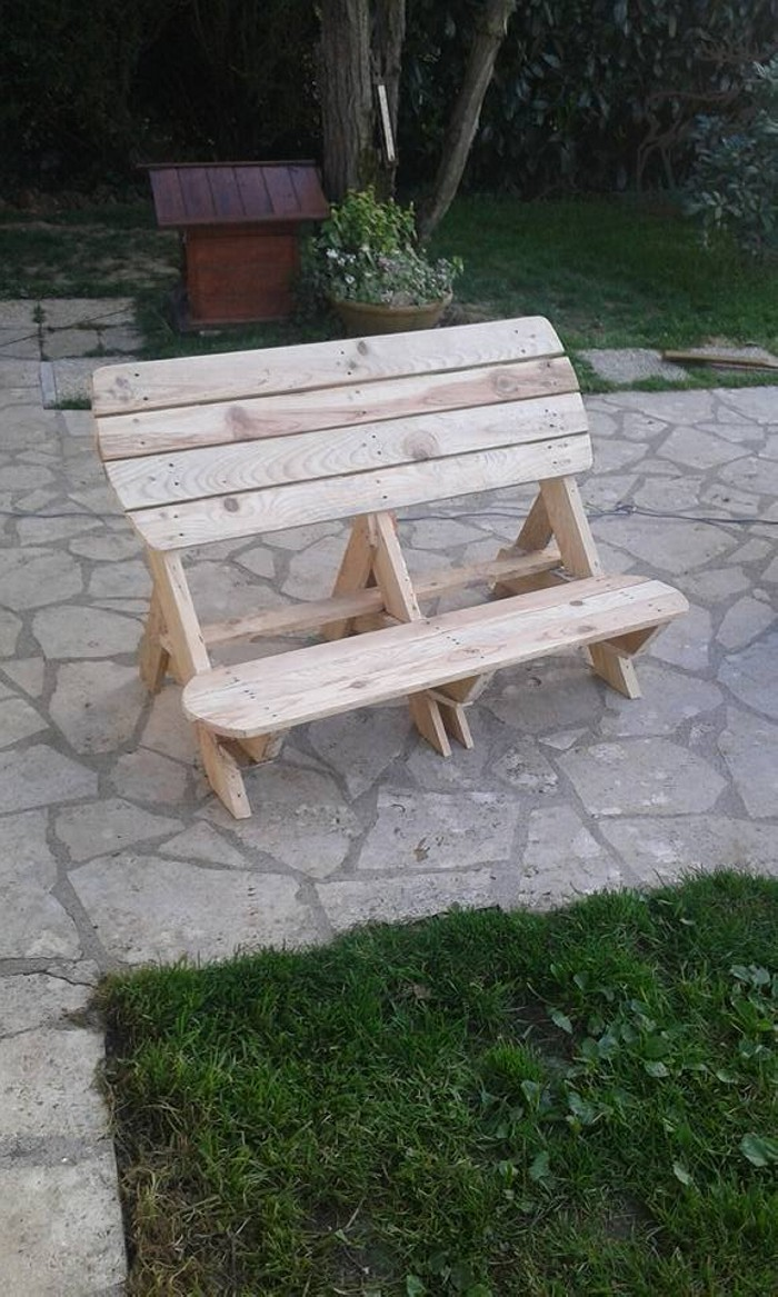 DIY Cute Pallets Made Garden Bench Pallet Ideas Recycled Upcycled Pallet
