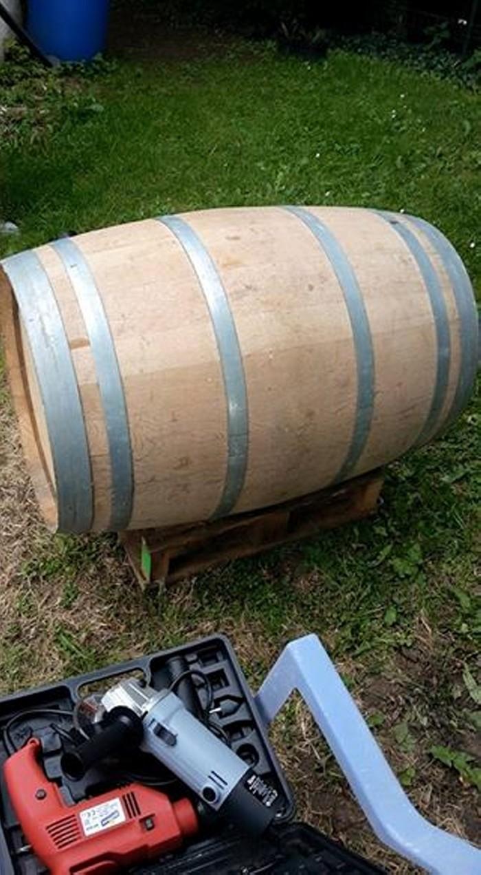 DIY Wood Barrel Recycled Chair