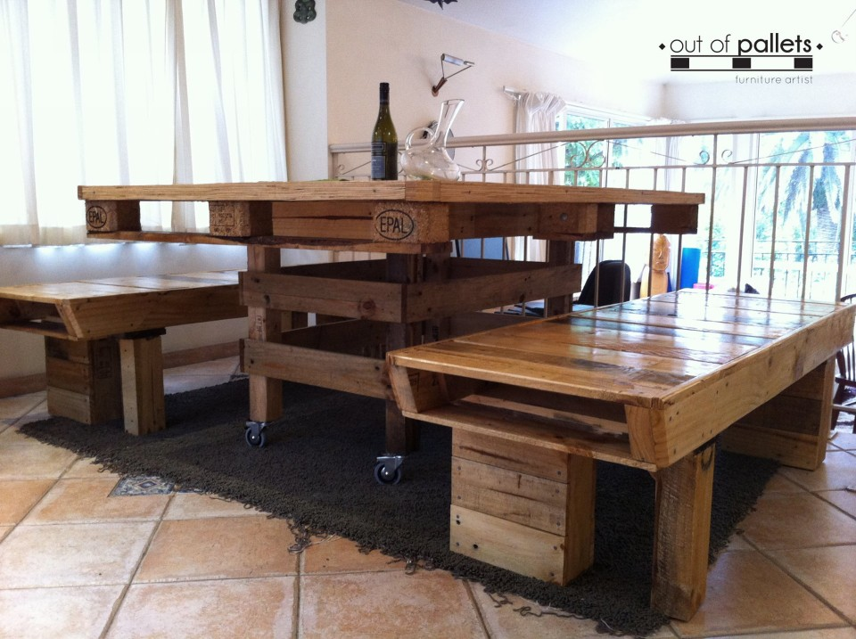 Dining Table Out Of Pallets Wood Pallet Ideas