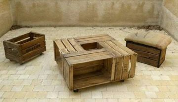 Old Apple Crates Upcycled