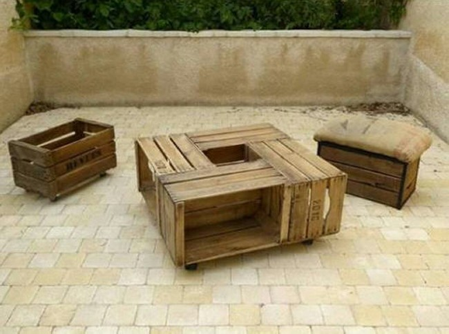 Old Apple Crates Upcycled Pallet Ideas