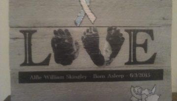 Pallet Wood Baby Memory Plaque