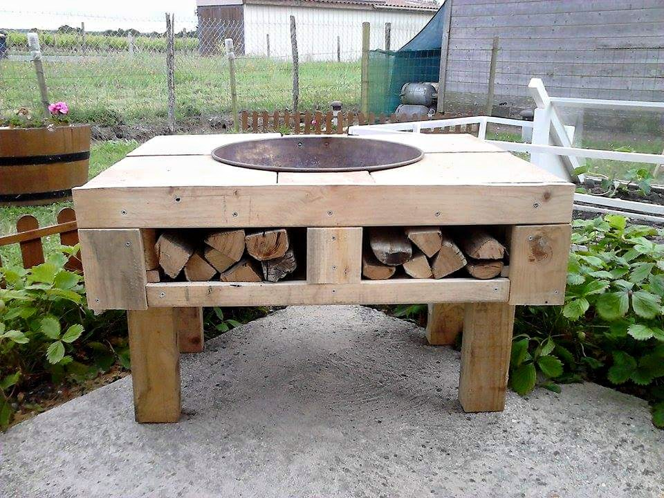Pallet Wooden Patio Fire Bit Pallet Ideas