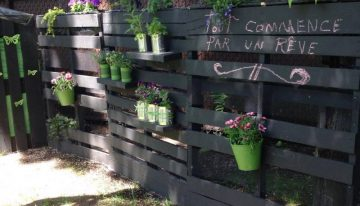 Pallets Decorated Garden