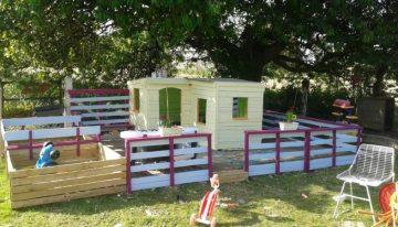 Pallets Made Kids Fun Land / Playhouse