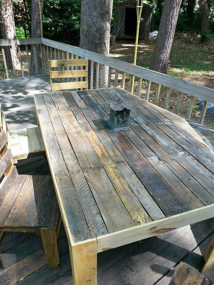Pallets Outdoor Deck and Furniture