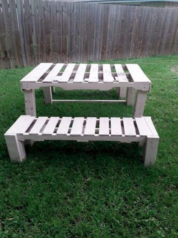 Pallets Outdoor Picnic Table With Benches Pallet Ideas