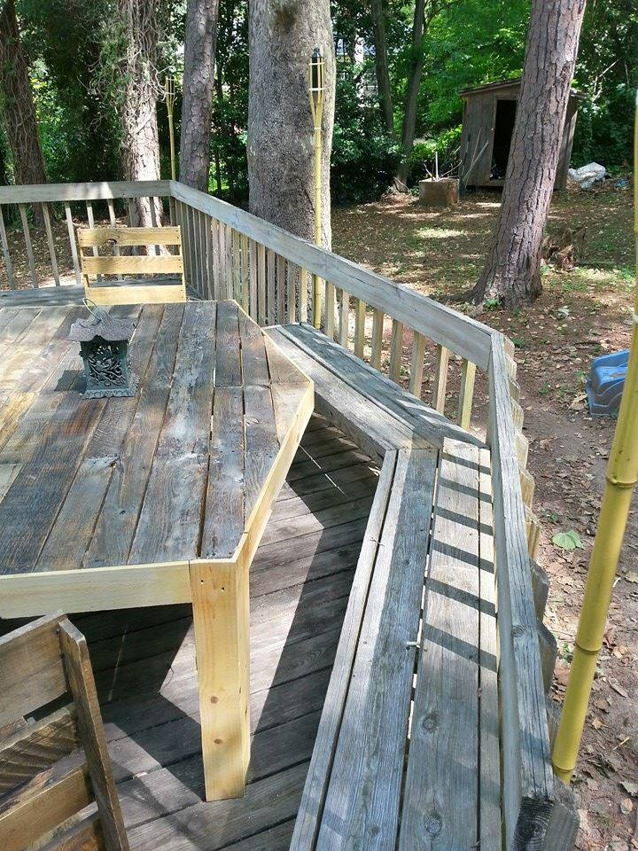 Pallets Patio Deck With Furniture
