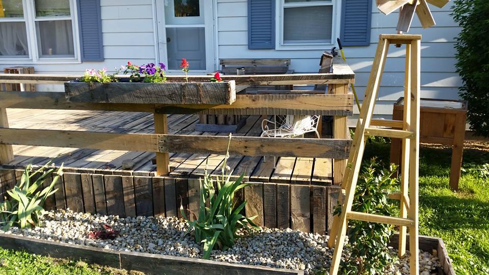 Huge Oak Pallets Upcycled To Garden Deck Pallet Ideas